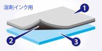 ハイグレードポリメリック塩ビ(透明グロス)(溶剤系強粘着18N透明)